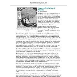 Atlantis Discovered