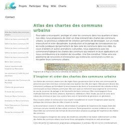 » Atlas des chartes des communs urbains