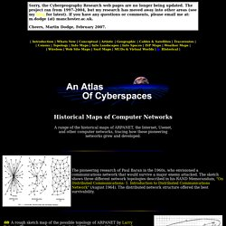 An Atlas of Cyberspaces- Historical Maps
