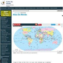 Atlas Du Monde, Carte D'atlas Du Monde En Ligne