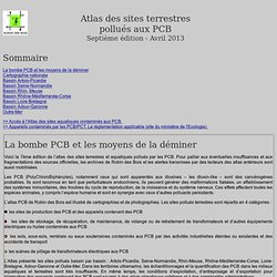Atlas des sites pollués aux PCB
