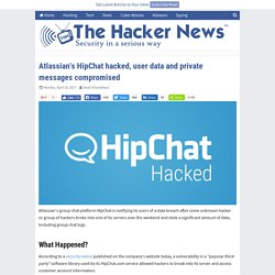 Atlassian's HipChat hacked, user data and private messages compromised