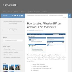 How to set up Atlassian JIRA on Amazon EC2 in 15 minutes