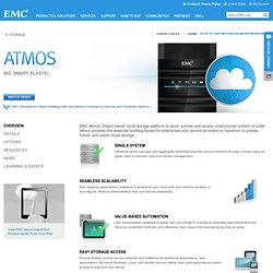 Atmos - Cloud Storage, Cloud Services
