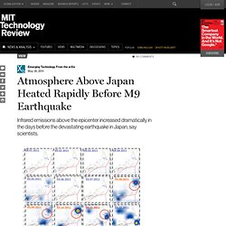 Atmosphere Above Japan Heated Rapidly Before M9 Earthquake