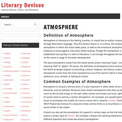 Atmosphere Examples and Definition - Literary Devices