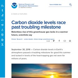 Carbon dioxide levels race past troubling milestone