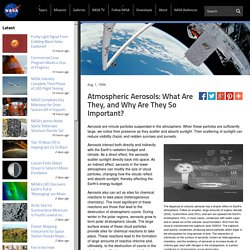 Atmospheric Aerosols: What Are They, and Why Are They So Important