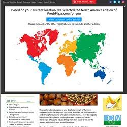 FRESH PLAZA 27/01/17 Italy: Cold atmospheric plasma treatment against hazelnut aflatoxins
