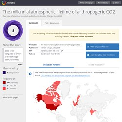 The millennial atmospheric lifetime of anthropogenic CO2