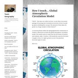 How I teach… Global Atmospheric Circulation Model – Team Geography