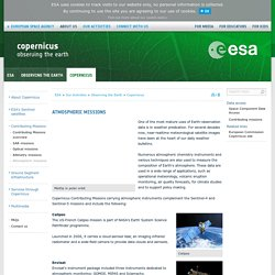 Atmospheric missions / Copernicus