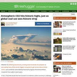 Atmospheric CO2 hits historic highs, just as global coal use sees historic drop