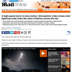 Atmospheric video shows what lightning really looks like when it flashes across the sky