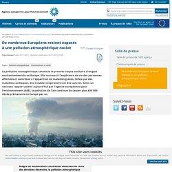 ARTICLE (Agence européenne pour l'environnement) : conséquences sur la santé...