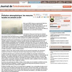 Pollution atmosphérique: les mesures locales ne servent à rien