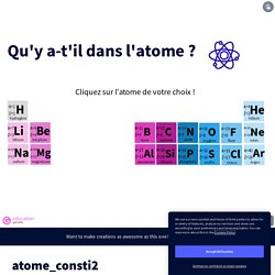 Constitution atome by Petit on Genially