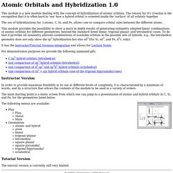 Atomic Orbitals and Hybridization 1.0