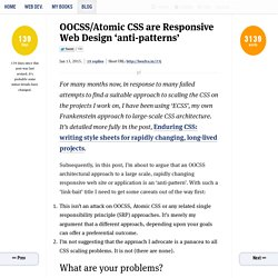OOCSS/Atomic CSS are Responsive Web Design 'anti-patterns'