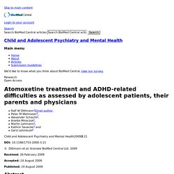 Atomoxetine treatment and ADHD-related difficulties as assessed by adolescent patients, their parents and physicians
