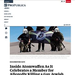 Inside Atomwaffen As It Celebrates a Member for Allegedly
