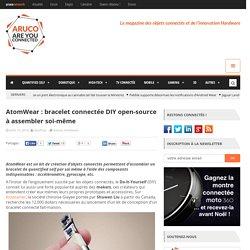 AtomWear : bracelet connectée DIY open-source à assembler soi-même