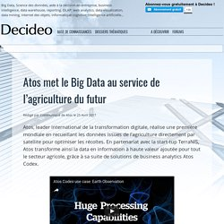 Atosmet le Big Data au service de l'agriculture du futur