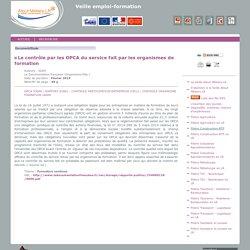 Contrôle du service des OF/les OPCA (rapport de l'IGAS - 2014)