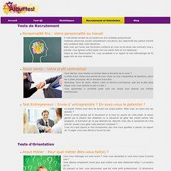 Test de QI, tests orientation et métiers. Test Bac 2012.