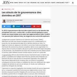 Les atouts de la gouvernance des données en 2017