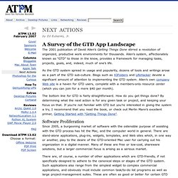 ATPM 13.02 - Next Actions: A Survey of the GTD App Landscape