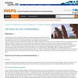INSPQ - JUILLET 2003 - ATRAZINE ET SES MÉTABOLITES