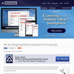 Are You Designing Effective Questions for E-Learning?