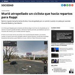 Murió atropellado un ciclista que hacía repartos para Rappi