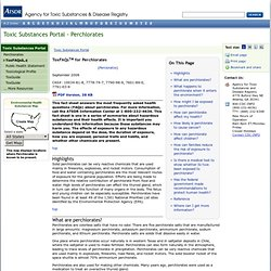AGENCY FOR TOXIC SUBSTANCES & DISEASE REGISTRY - SEPT 2008 - ToxFAQs™ for Perchlorates