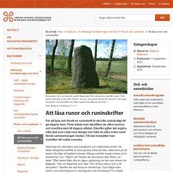 Att läsa runor och runinskrifter