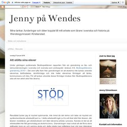 Jenny på Wendes: Att stötta sina elever