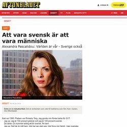 Att vara svensk är att vara människa