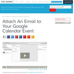 Attach An Email to Your Google Calendar Event