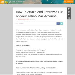 How To Attach And Preview a File on your Yahoo Mail Account?