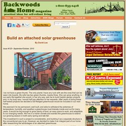 Build an attached solar greenhouse