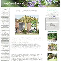 Attached Lean-to Pergola