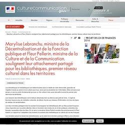 Marylise Lebranchu et Fleur Pellerin soulignent leur attachement partagé pour les bibliothèques, premier réseau culturel dans les territoires
