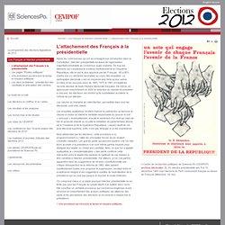 L'attachement des Français à la présidentielle - Les Français et l'élection présidentielle - L'élection présidentielle de 2012