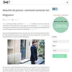 Daily RP /Attachés de presse : comment contacter les blogueurs -