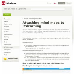 Attaching mind maps to itslearning