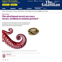 The attachment secret: are you a secure, avoidant or anxious partner?