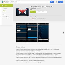 Gmail Attachment Download - Android Apps on Google Play