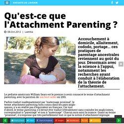 Qu'est-ce que l'Attachment Parenting ?