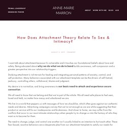 How Does Attachment Theory Relate to Sex & Intimacy? — Anne-Marie Marron